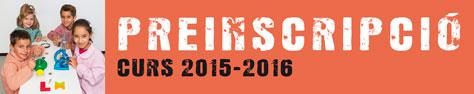 Preinscripció escolar. Curs 2014-2015.
