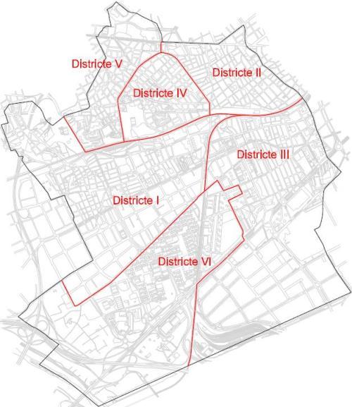 Mapa De L Hospitalet.Plano Distritos Ajuntament De L Hospitalet