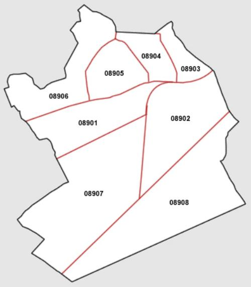 Mapa De L Hospitalet.Plano Codigos Postales Ajuntament De L Hospitalet