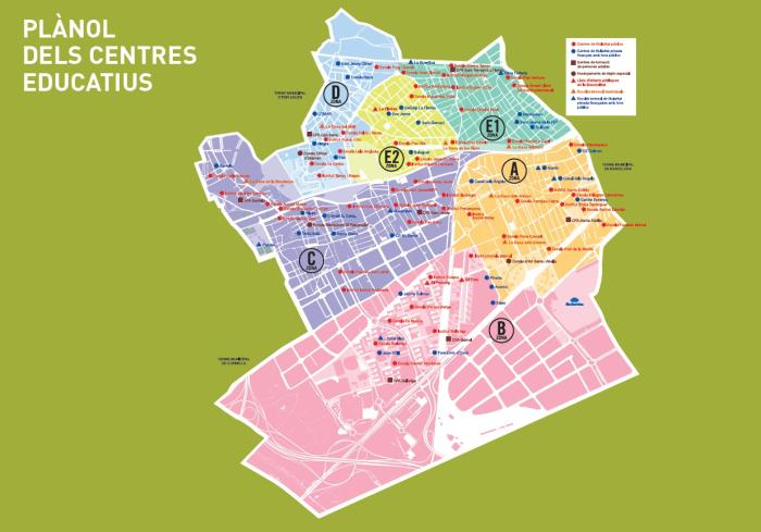 Mapa De L Hospitalet.Oficina Municipal De Escolarizacion Ome Ajuntament De L