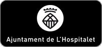Logotipo blanco horizontal centrado en negativo