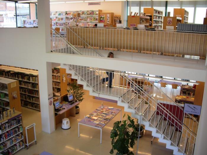 Bird's view of the Josep Janés Library