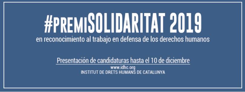 Premi Solidaritat 2019