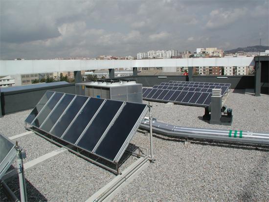 Instal.lacions solars edifici municipal c. Cobalto