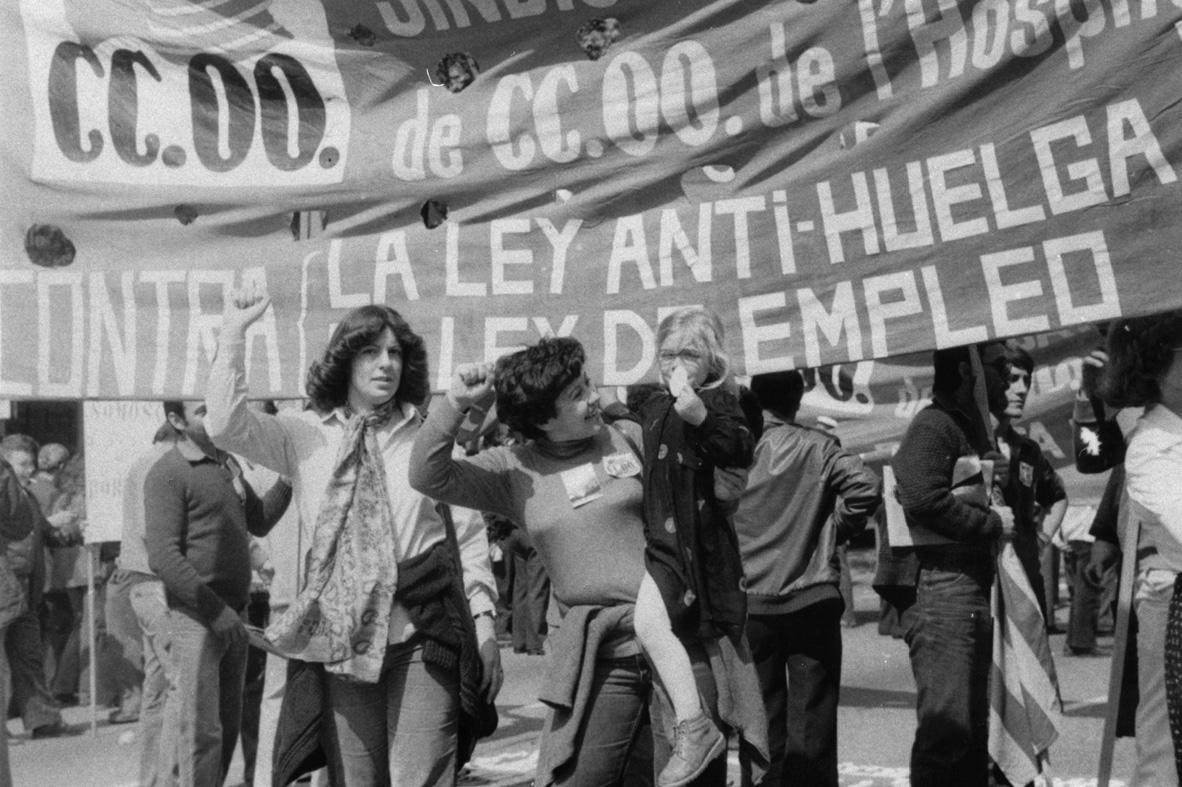 Dones sindicalistes de ram del metall. Ascensión Romero i Carmen Corral. AML'H. Fotografies. R.886