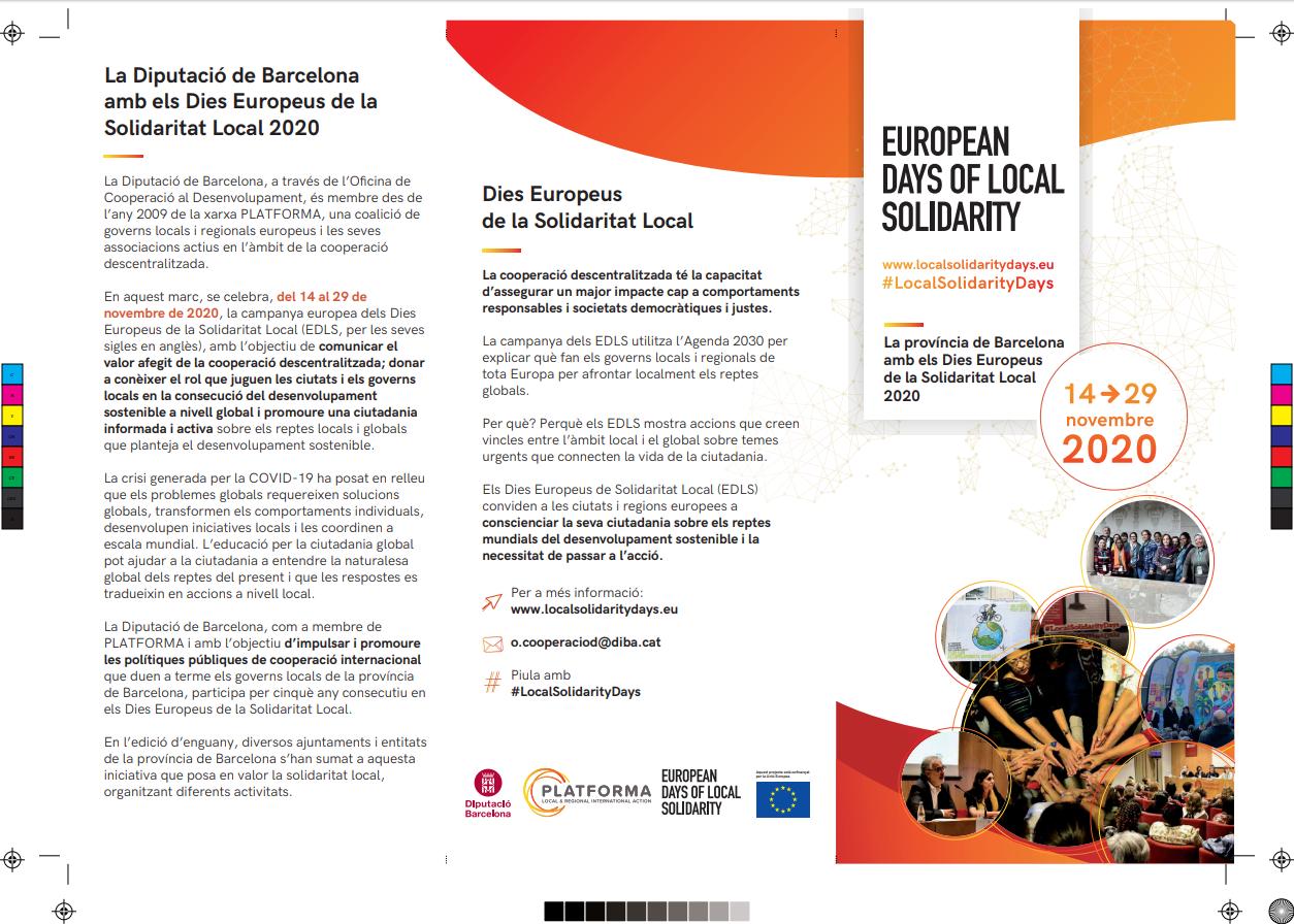 activitats de la província de Barcelona durant els Dies Europeus de la Solidaritat Local 2020