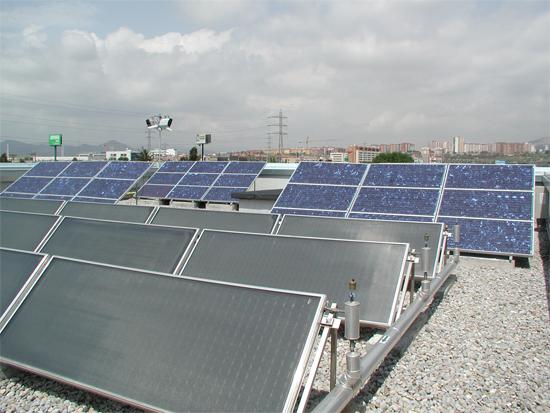 Plaques solars parc sanejament