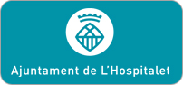 Logotip color horitzontal centrat en negatiu