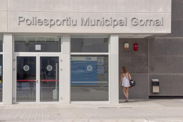 Facade of the sports center