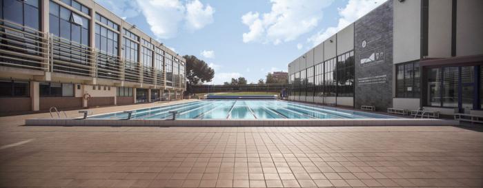 Municipal swimming pool without people