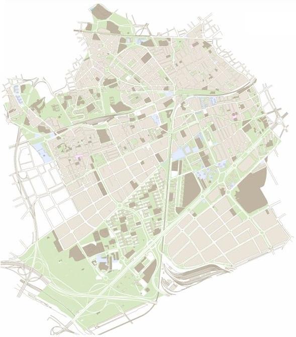 Plànol de la ciutat de l'Hospitalel