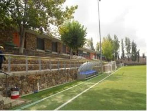 El banquillo del Campo Municipal Fútbol La Florida