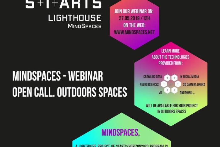 Cartell Residències artístiques del projecte europeu Mindspaces